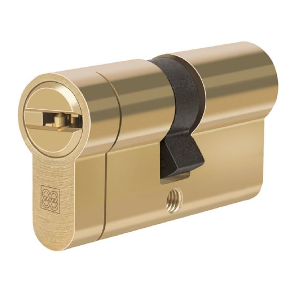 Cilindro de seguridad. Mod.  MPRO. Latón. 31x10 mm.