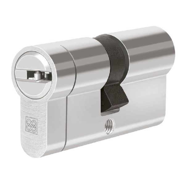 Cilindro de seguridad mod. MPRO. Níquel. 33x33 mm.