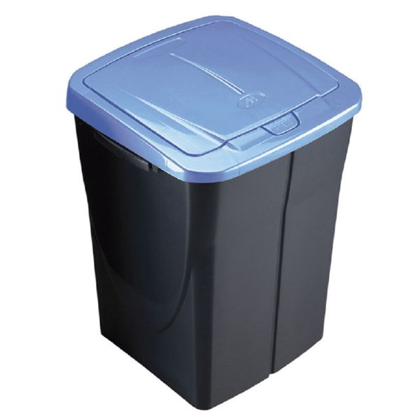 Cubo Ecobin 45 litros. Tapa azul