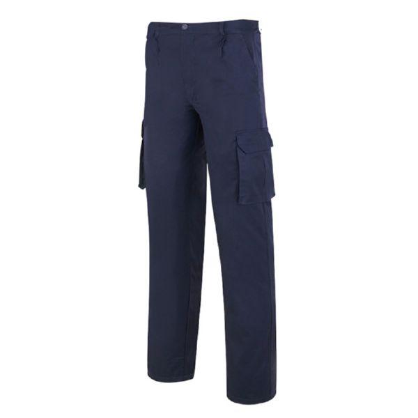 Pantalon multibolsillos TOP tejido 245 g 100% algodon azul marino T/38