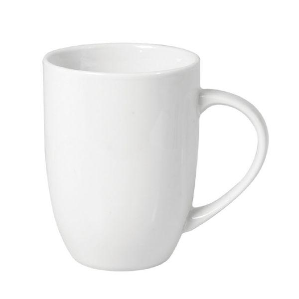 Tazon mug porcelana conico blanco. (Minimo 6 unidades)